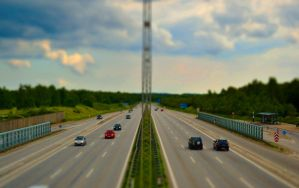 Toy Cars In Highway by TeKNoMaNiaCH