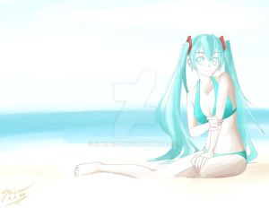 More Playing with Water Color: Hatsune Miku