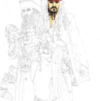 Captain Jack Sparrow animation progress by Nienova95