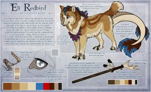 .: Eli Redbird Official Sheet Ref 2014 :. by SillyTheWolf
