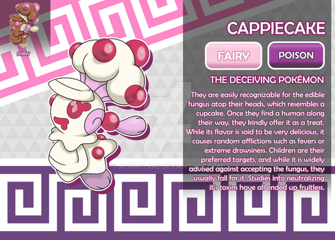 Cappiecake, the Deceiving Fakemon by AtmaFlare