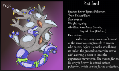#032 Pestilord Fakemon by Angel-Moonlightwolf