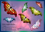 1044 Night Moths by Tigers-stock