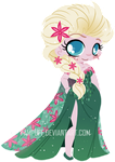 Elsa's New Dress ::Frozen Fever:: by YamPuff