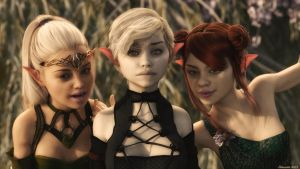 Three Little Elves by Edheldil3D