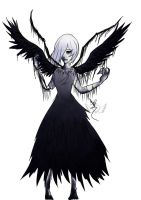 [Demise Nightmare] Frozen Raven by OpalesquePrincess