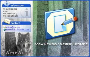 Windows XP Show Desktop by werewolfdev