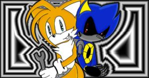 Tailz and Metal Sonic by CherriSkullz