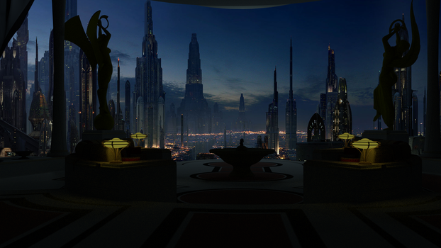 Padmes Apartment on Coruscant. by Crias