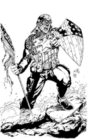 The First Avenger (Inks) by HumanAbandonware