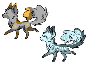 Dog/Wolf Adoptables -Closed- by RoxyAbsinthe