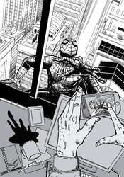 Spiderman: a view from an office by StudioCombine
