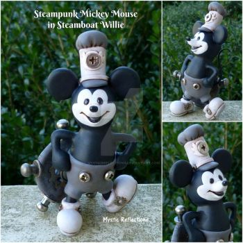 Steampunk Mickey Mouse in Steamboat Willie by MysticReflections