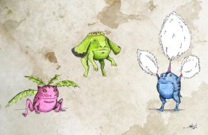 Hoppip, Skiploom, Jumpluff