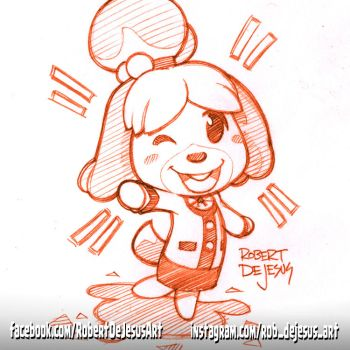 Isabelle from Animal Crossing: Pocket Camp by Banzchan