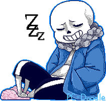 Relaxed sans Animated Pixel by PC-Doodle