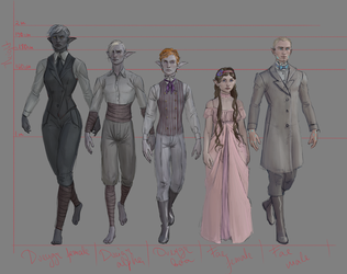people of Sylramus concept art by undeadcrabstick