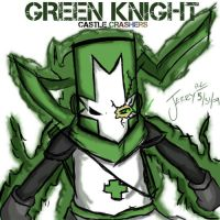 Green Knight Crasher by JerryRC