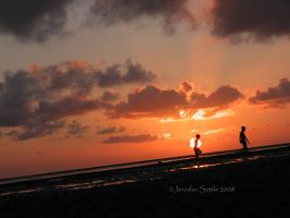 Sunset at the bay 3 by jayshree