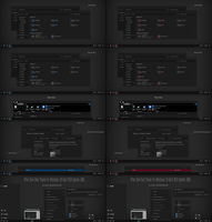 After Dark Blue and Red Theme Win10 1803 Update2 by Cleodesktop