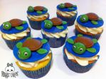 Sea Turtle Cupcakes by Corpse-Queen