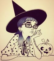 Bored Witch by ChrissieZullo