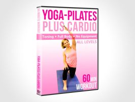 Yoga-Pilates Plus Cardio DVD Cover Mockup by ambdesignsph