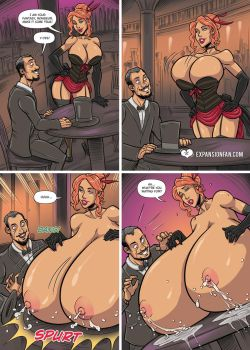 Breast Expansion Burlesque by expansion-fan-comics