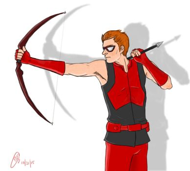 Red Archer by ElisitaGayle