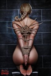 Nude, Tied and waiting - Fine Art of Bondage by Model-Space