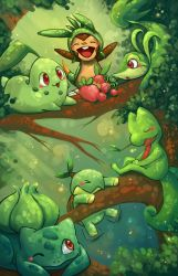 Grass starters updated with chespin by michellescribbles