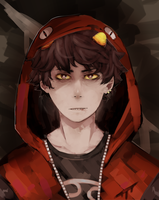 karkat with a hoodie- homestuck by LaWeyD