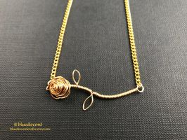 Customizable Rose Stem Necklace by bluediscord