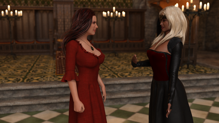 Queen Uma and Polly have a disagreement by gatesjillianwriter