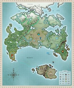 Start of twokinds game map by The-dragonfiend