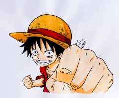 Monkey D. Luffy by CursedSnail