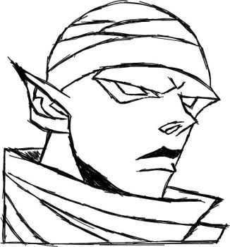 Piccolo Line Art #03 by Arkimennes