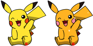 Pokemon #025 - Pikachu by Fyreglyphs