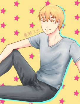 Kise Ryouta AX Print by SilhouetteSoul
