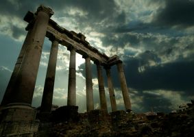 Temple of Saturn by jerishoots