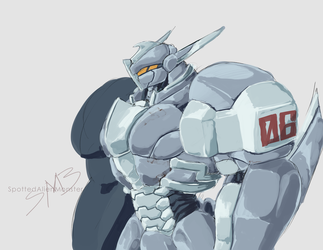 Quick Paint - Mecha by SpottedAlienMonster