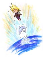 FFVII: Dolphin Toss by Risachantag
