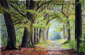 Green Archway - Watercolour pencils by 6re9