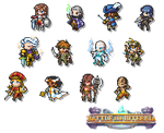 Battle for Biternia - pixellated roster by FontesMakua