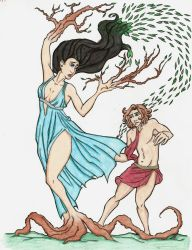 Apollo and Daphne-Colored by ArizonaRed