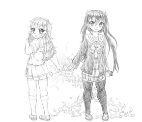 Zusa And Madeline Sketch by Candor-Shade