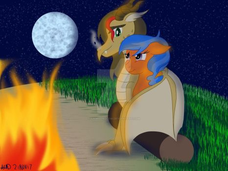 Camping under the stars by CrimsonGlow