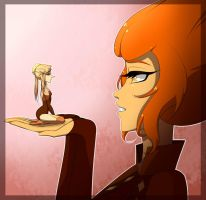 Orange Diamond and her Melo Pearl((My gemsonas)) by Tia-Moon78