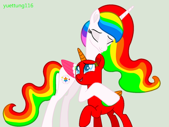 MLP Collab 35 (Hugged from Princess Rainbow Dream) by yuettung116