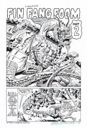 STRANGE TALES #19 Fin Fang Foom SPLASH Recreation by DRHazlewood